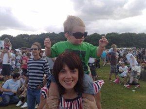 Youngest enjoying Toploader!!