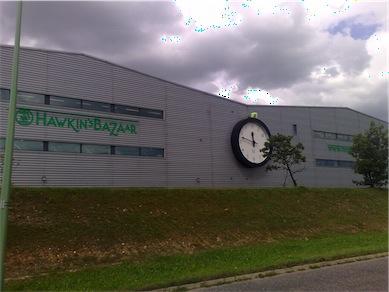 Hawkins/ Tobars head office. Fab clock!!